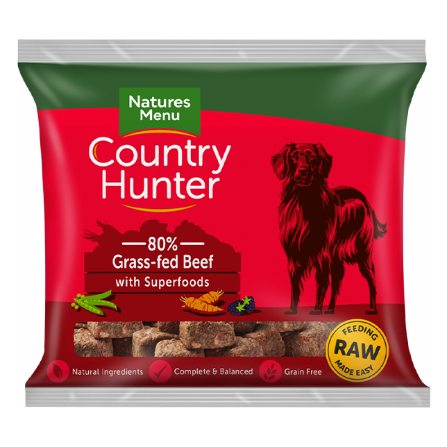 Country Hunter Raw Nuggets - Grass-Fed Beef with Superfoods (Bone Free)