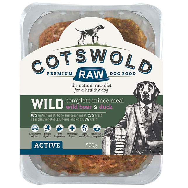 Cotswold RAW Active 80/20 Wild Range Mince with Wild Boar & Duck - Complete