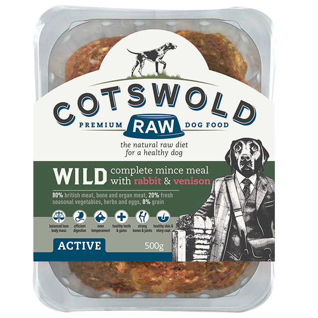 Cotswold RAW Active 80/20 Wild Range Mince with Rabbit & Venison - Complete