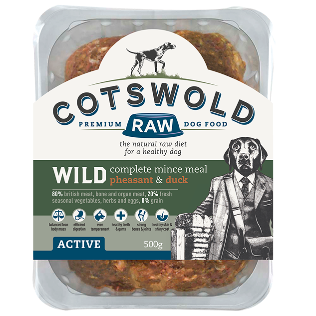 Cotswold RAW Active 80/20 Wild Range Mince with Pheasant & Duck - Complete