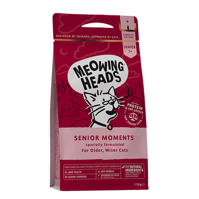 Meowing Heads Senior Moments - Dry Food