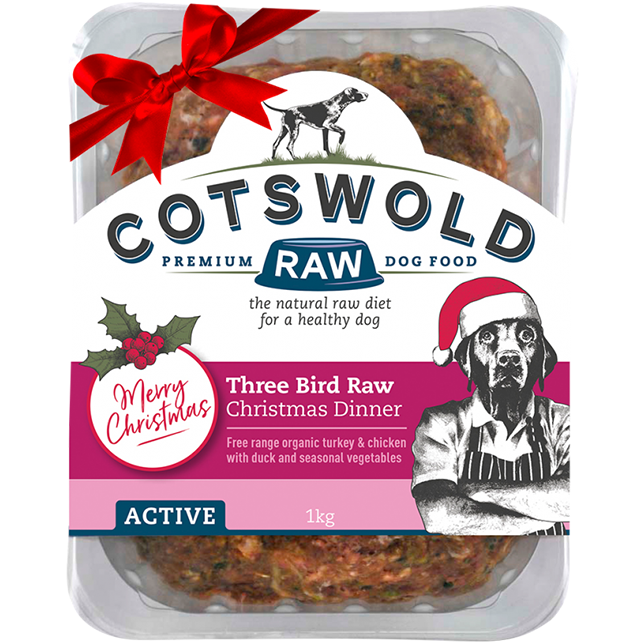 Cotswold RAW Active 80/20 Three Bird Raw Christmas Dinner - Complete