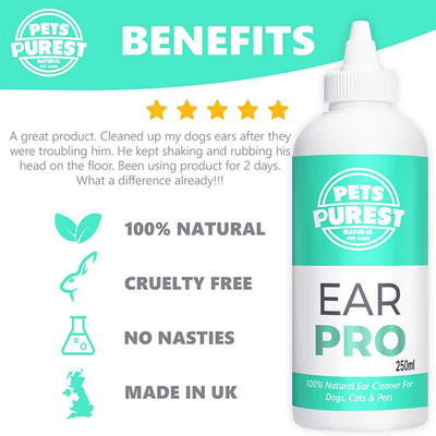 Pets Purest Ear Pro - 100% Natural Ear Cleaner
