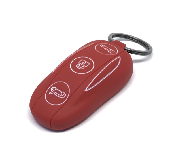 Model X Silicone Key Fob with Keyring