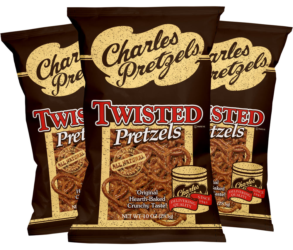 10oz Twisted Pretzels (Pack of 3)