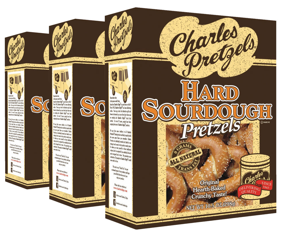 10.5oz SourDough Pretzels (Pack of 3)