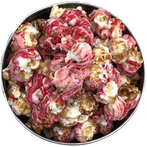 Load image into Gallery viewer, 9oz Tin of Triple Chocolate Love Popcorn