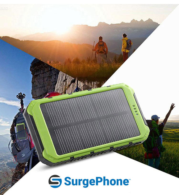 Solar Powered Device Battery Pack / Charger (20,000mAh)