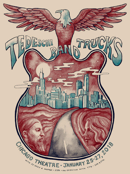 Tedeschi Trucks Band at Chicago Theatre poster