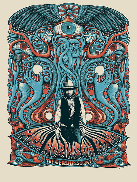 Rich Robinson Tour Poster - Orange Blue