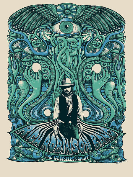 Rich Robinson Tour Poster - Blue/Green