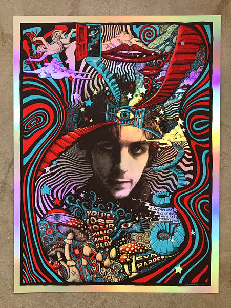 Syd Barrett commemorative print - holographic foil - SOLD OUT!