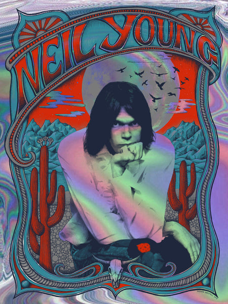 Neil Young print - Holographic Foil