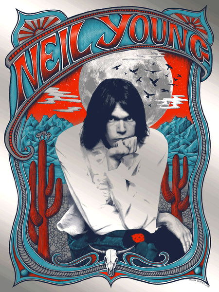 Neil Young print - Mirror Silver