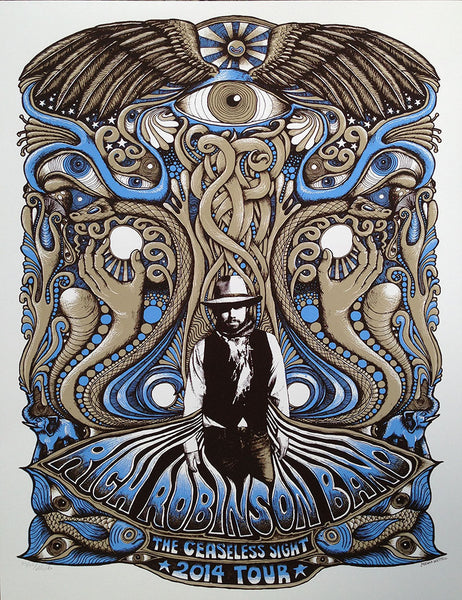 Rich Robinson Tour Poster - Brown/Blue