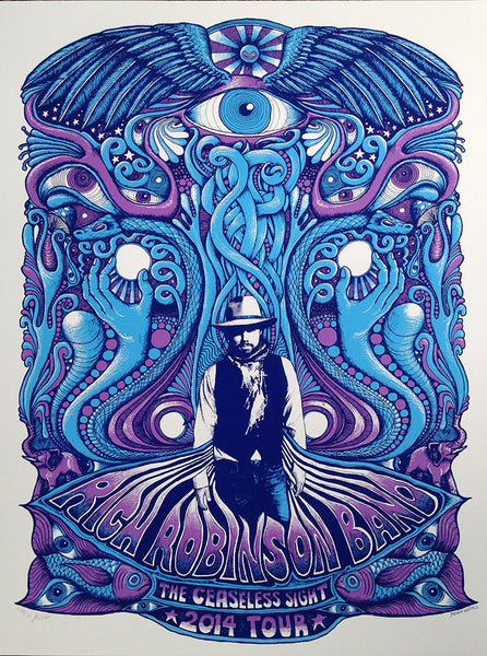 Rich Robinson Tour Poster - Blue/Purple