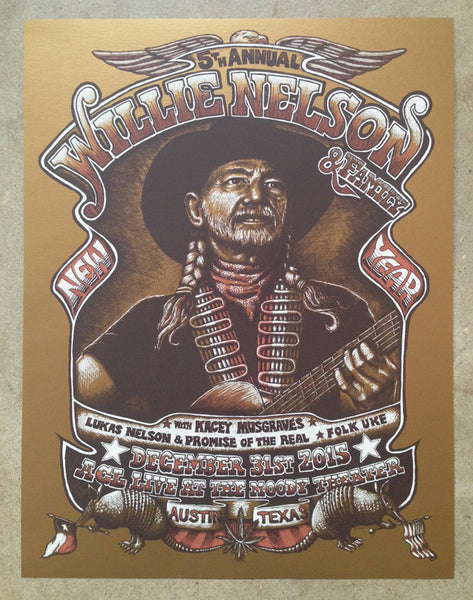 Willie Nelson - NYE at ACL Moody Theater, Austin (Gold variant) SOLD OUT