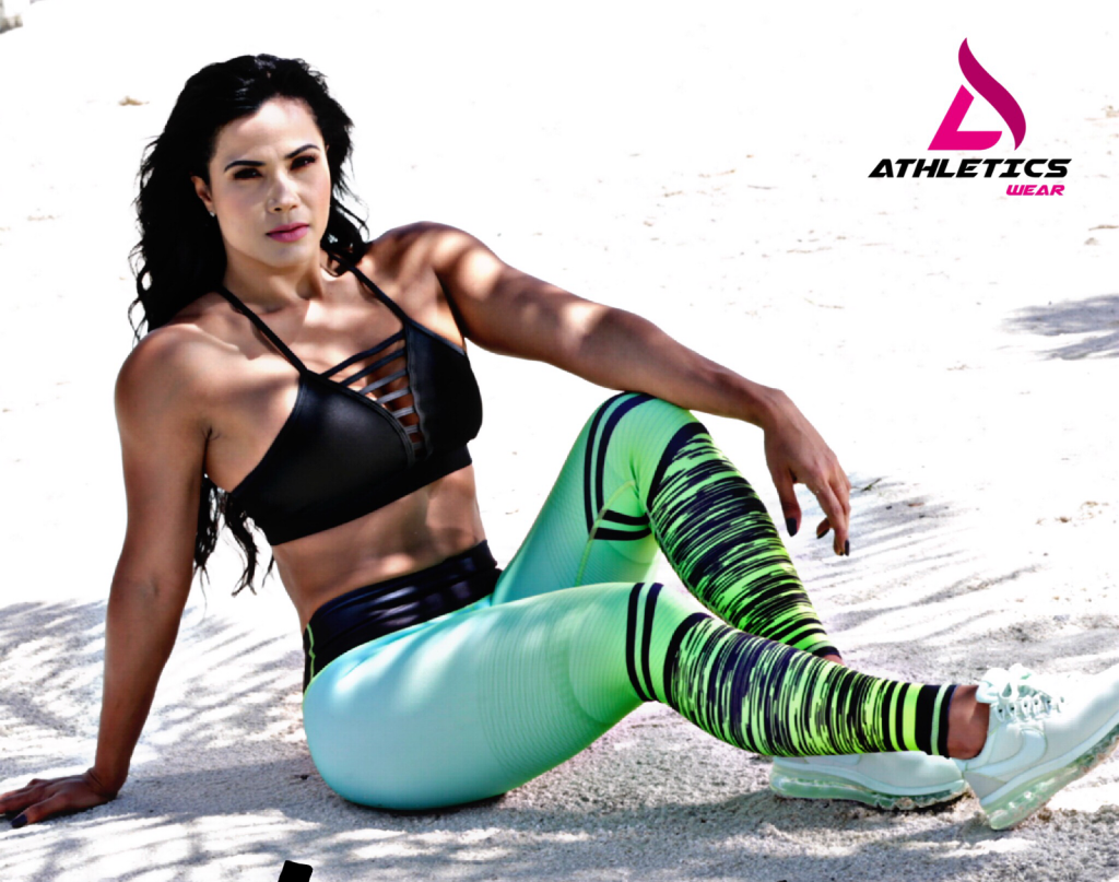 Athletics Wear - Luz Elena Echeveria Molina (Lucecita) on the beach in Athletics Wear sportswear