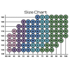 Size chart Anarchy Apparel sportswear from Sweden