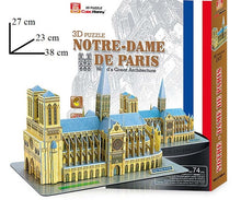 Laden Sie das Bild in den Galerie-Viewer, 3D Puzzle Notre -Dame de Paris - my Sports Paradise