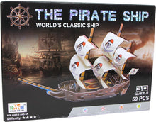 Laden Sie das Bild in den Galerie-Viewer, 3D Puzzle Piraten Schiff - my Sports Paradise