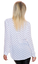 Upload the image to the gallery viewer, blouse white with star pattern - my Sports Paradise