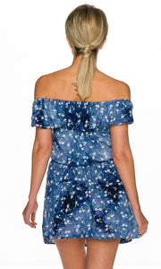Carmen Mini Dress Blue - my Sports Paradise