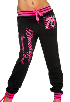 Brooklyn Jogginghose schwarz pink - my Sports Paradise
