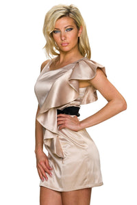 golden Minikleid mit Zierschnalle - my Sports Paradise