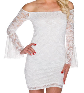 white lace mini dress - my sports paradise