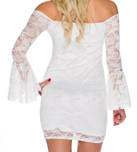 Upload the image to the gallery viewer, white lace mini dress - my sports paradise