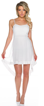 white mullet mini dress - my sports paradise