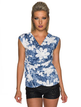 Laden Sie das Bild in den Galerie-Viewer, Jeans + Blumen Top - my Sports Paradise