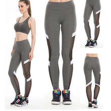Laden Sie das Bild in den Galerie-Viewer, Mesh Leggings grau - my Sports Paradise