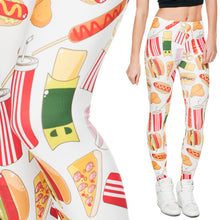 Laden Sie das Bild in den Galerie-Viewer, Leggings Fast Food Style - my Sports Paradise