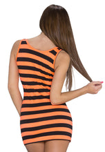 Upload the image to the gallery viewer, Long Top black dark orange striped - my Sports Paradise