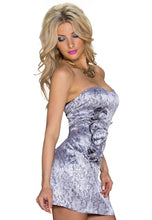 Laden Sie das Bild in den Galerie-Viewer, Silver Flower bandeau Minikleid