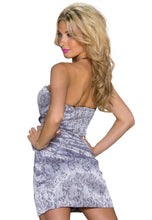 Laden Sie das Bild in den Galerie-Viewer, Silver Flower bandeau Minikleid - my Sports Paradise