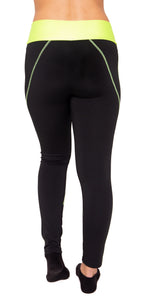 Leggings mit Neon Bund - my Sports Paradise