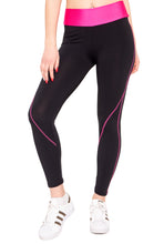 Load the image into the gallery viewer, leggings with neon waistband - my sports paradise