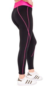 Leggings with neon waistband - my sports paradise