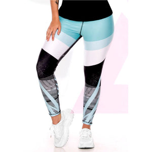 Spiral Blue Leggings - my Sports Paradise