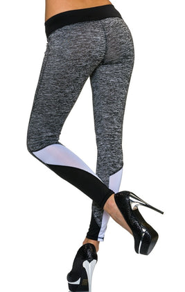 Leggings grau meliert - my Sports Paradise