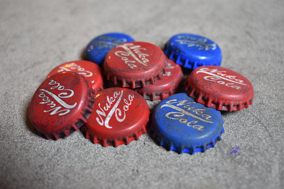Nuka Cola Caps! Hand Made Nuka-Cola Bottle Caps Fallout 4 NukaCola Fall Out 76 Nuka Bottlecap