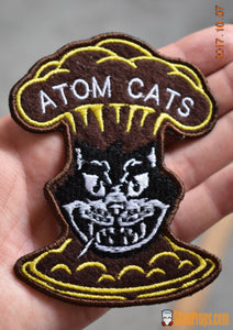 Atom Cats Patches! Sew-On Fallout 4 Cat Patch Embroidered Cloth Wasteland Greaser Custom Patches