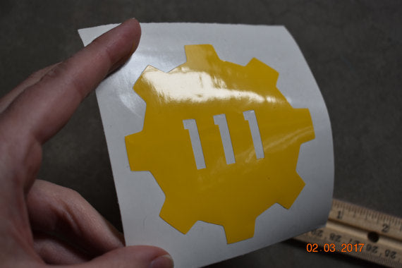 Fallout Vault Boy Car Decal Sticker Whit Buy Online In Martinique At Desertcart