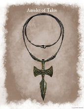 AMULET OF TALOS! Talos Necklace Skyrim Charm Leather Cosplay Jewelry Dragonborn Dovahkiin Guide You