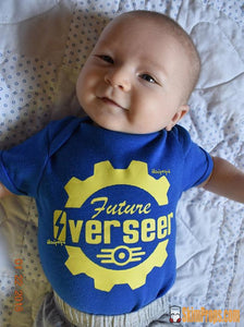 Baby Fallout Cosplay Onesie! Future Overseer Babies Romper 76 Vault Tec Vaulttec Fall Out 4 Blue Boy