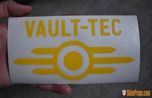 Vault-Tec Logo Bumper Sticker Fallout 4 Cosplay Nerdy Gamer Fall Out Vault Tec Vaultec Stickers