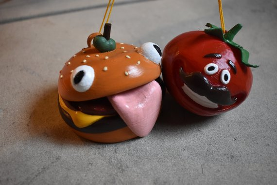 Fortnite Golf Cart Charms! Fort Nite Durr Burger and Tomato Town Charm Rearview Fortnite Cosplay